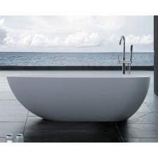 Freistehende Ei Form Design Badewanne aus Mineralguss Ovale