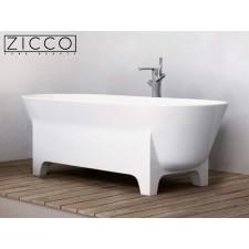 Freistehende Design Badewanne aus Mineralguss Aspiro