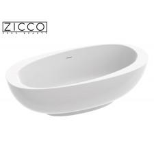 Freistehende Design Badewanne aus Mineralguss Atos