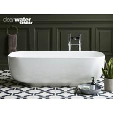 Freistehende Badewanne aus Clearstone Uno