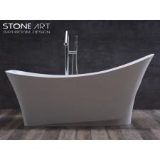 Freistehende Design Badewanne aus Mineralguss Bantry