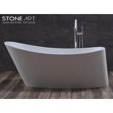 Freistehende Design Badewanne aus Mineralguss Arklow