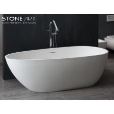 Freistehende Design Badewanne aus Mineralguss Waterford