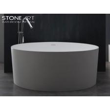 Freistehende Design Badewanne aus Mineralguss Wexford