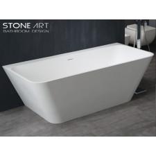 Freistehende Design Badewanne aus Mineralguss Ballina