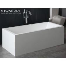 Freistehende Design Badewanne aus Mineralguss Cashel