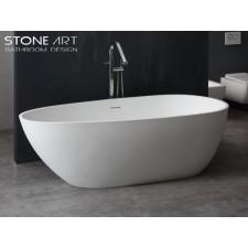 Freistehende Design Badewanne aus Mineralguss Waterford Large