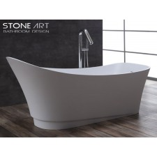 Freistehende Design Badewanne aus Mineralguss Donegal