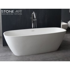 Freistehende Design Badewanne aus Mineralguss Galway