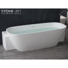 Freistehende Design Badewanne aus Mineralguss Carlow
