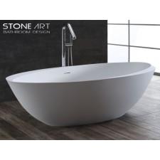 Freistehende Design Badewanne aus Mineralguss Tray