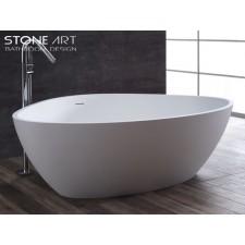 Freistehende Design Badewanne aus Mineralguss Navan