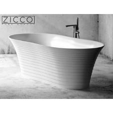 Freistehende Design Badewanne aus Mineralguss Elementum