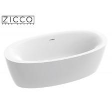 Freistehende Design Badewanne aus Mineralguss Evo