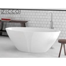 Freistehende Design Badewanne aus Mineralguss Hebe