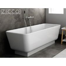Freistehende Design Badewanne aus Mineralguss Luna