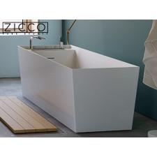 Freistehende Design Badewanne aus Mineralguss Quadro
