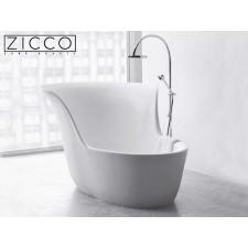 Freistehende Design Badewanne aus Mineralguss Pavo