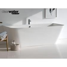 Freistehende Badewanne aus Clearstone Patinato Petite