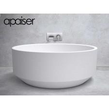 Freistehende Design Badewanne aus Mineralguss Marmor Zen 1450