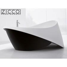 Freistehende Design Badewanne aus Mineralguss Emotion