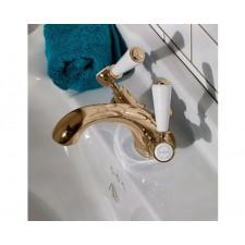 Nostalgie Einloch Waschtischarmatur Goddard Brass