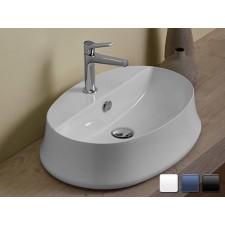 Keramik Aufsatzwaschbecken Shell Oval LB