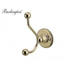 Retro Doppel-Kleiderhaken Burlington Gold