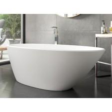 Freistehende Designer Badewanne aus Mineralguss Lefka