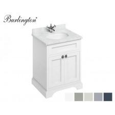 Retro Waschtisch mit Unterschrank Minerva 65 Carrara White