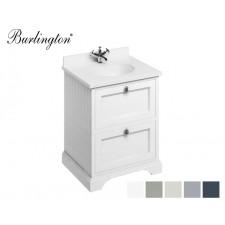 Retro Waschtisch mit Unterschrank Minerva 65 White