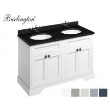 Retro Waschtisch mit Unterschrank Minerva 130 Carrara Black