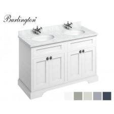 Retro Waschtisch mit Unterschrank Minerva 130 Carrara White