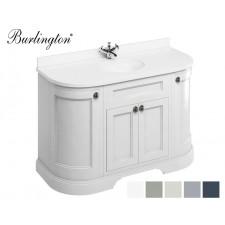 Retro Waschtisch mit Unterschrank Minerva 134 Curved White