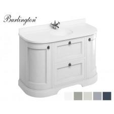 Retro Waschtisch mit Unterschrank Minerva 134 Curved Drawer Carrara White