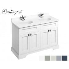 Retro Waschtisch mit Unterschrank Minerva 130 White