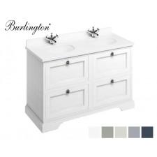 Retro Waschtisch mit Unterschrank Minerva 130 Drawer Carrara White