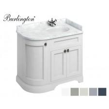 Retro Waschtisch mit Unterschrank Minerva 100 Curved Right Carrara White