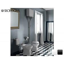 Keramik WC-Becken mit hochhängendem Spülkasten Neoclassica Traditionell Antik Retro Nostalgie