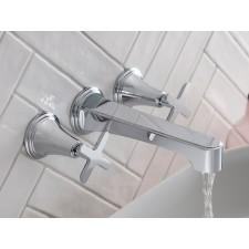 Design 3-Loch Waschtischarmatur Celeste zur Wandmontage
