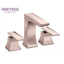 Design Dreiloch Waschtischarmatur Hemsby