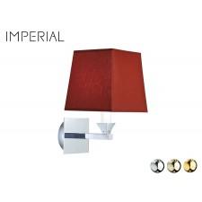 Nostalgie Badezimmer-Lampe Astoria Rubin Rot