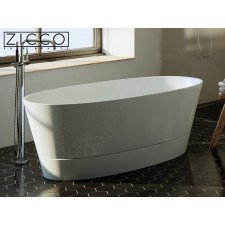 Freistehende Design Badewanne aus Mineralguss Simi 2