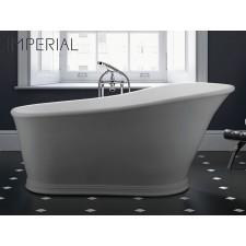 Freistehende Design Badewanne aus Mineralguss Hampton