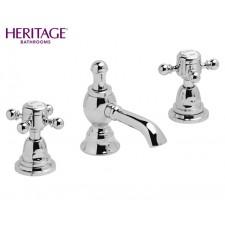Nostalgie Dreiloch Waschtischarmatur Heritage Chrom