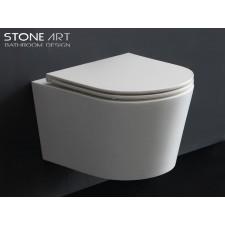 Mineralguss WC-Becken Carlow wandhängend