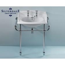 Nostalgie Waschtisch Victorian mit Chromgestell