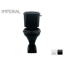 Nostalgie Keramik WC-Becken mit aufgesetztem Spülkasten Astoria Deco
