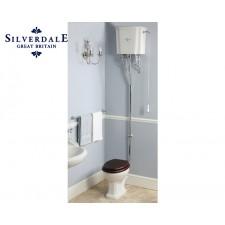 Nostalgie WC-Becken Balasani mit hoch hängendem Spülkasten