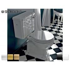 Keramik WC-Becken mit aufgesetztem Spülkasten Neoclassica  Antik Retro Traditionell